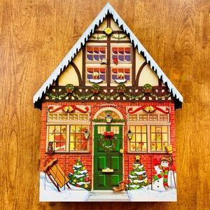 Byers Choice Christmas Wood House Advent Calendar